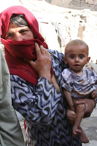 Muslim Woman and Baby
