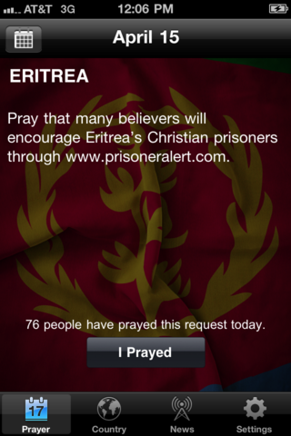 VOM Prayer App