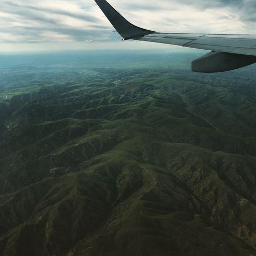 Flying over Inner Mongolia